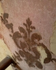 Even though faded, it was an elaborate wallpaper for its time.