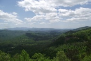 Looking into Happy Valley, from Look Rock on top of Chilhowee Mtn.
