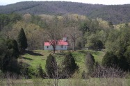 Actually is Chilhowee Primitive Baptist Church but everyone refers to it as Red Top because of its red roof.